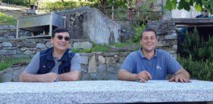 Roberto con Edoardo Patrone dell'omonima azienda agricola